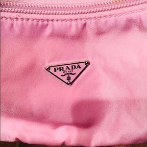 Prada Pink Mini Vela nylon bag